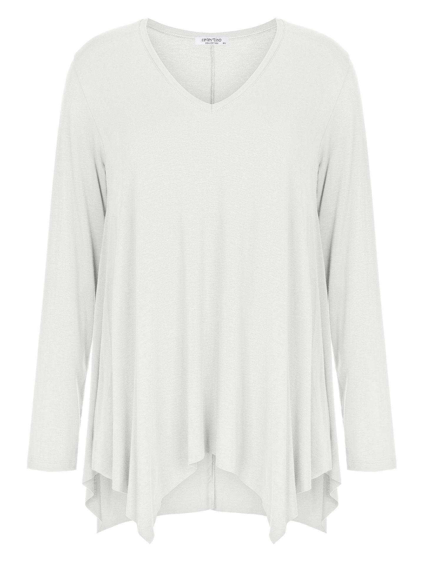 b0c03aa9e08e Plus size μπλούζα με μύτες WL4815.4001+7
