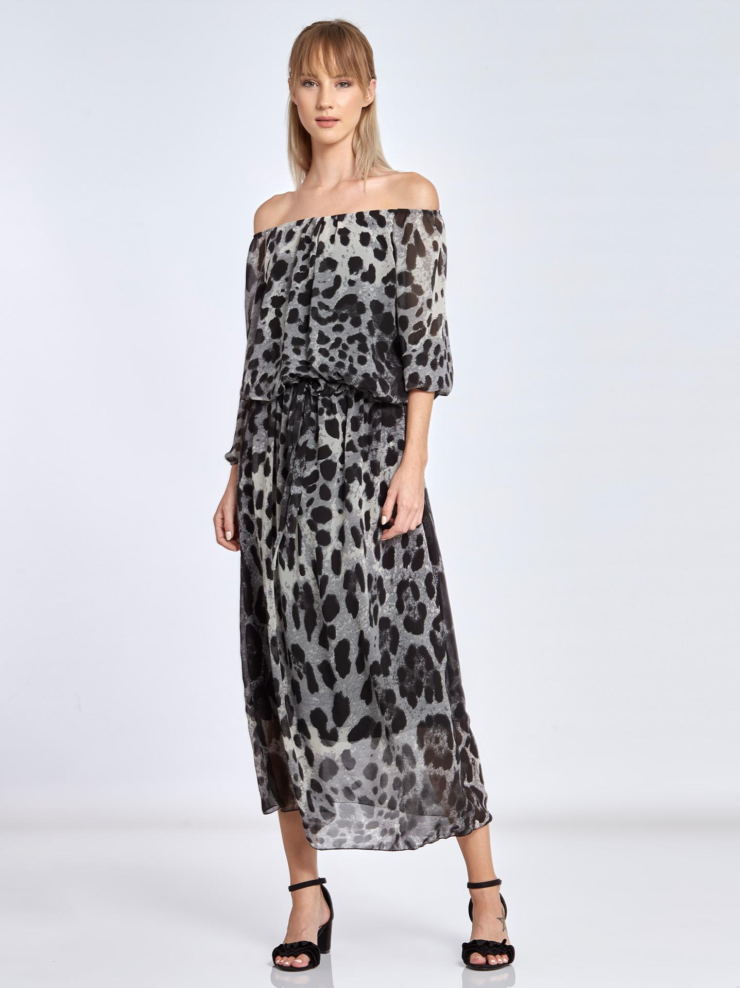 f624987419ed Λεοπάρ maxi φόρεμα WL7817.8031+1