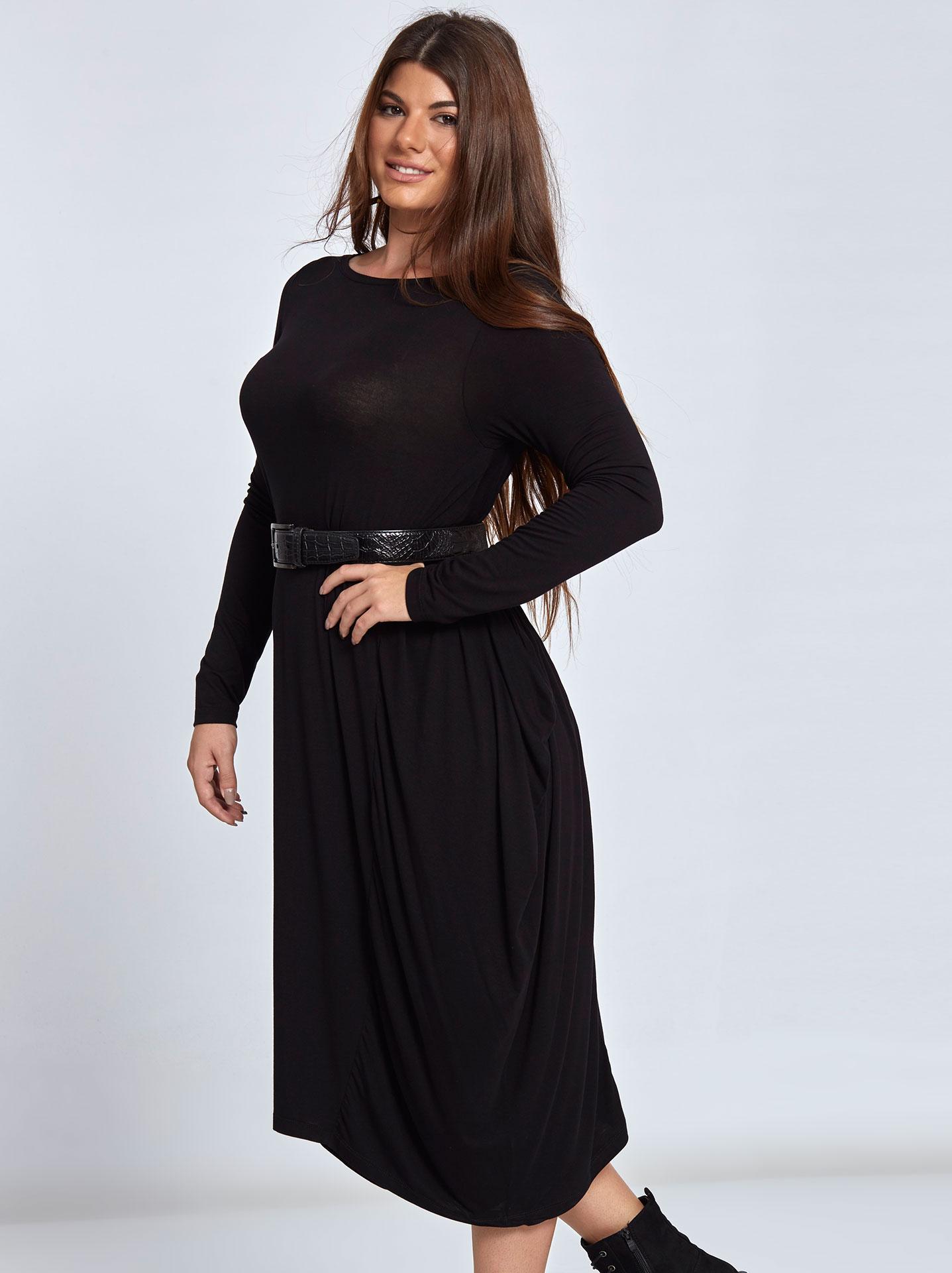 4da2a68e54e8 Μακρύ φορεμα με μύτες WL8176.8001+2