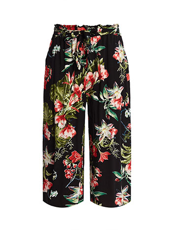 118dc1306ecc Tie waist floral culottes black