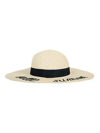 715a4ffd Oversized hello summer floppy straw beach hat off white