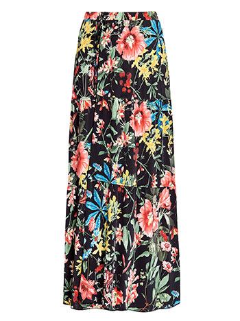 54abca4442d2 Wrap maxi skirt in floral print black