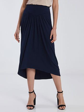 Ασύμμετρη midi φούστα SG2116.2001+2