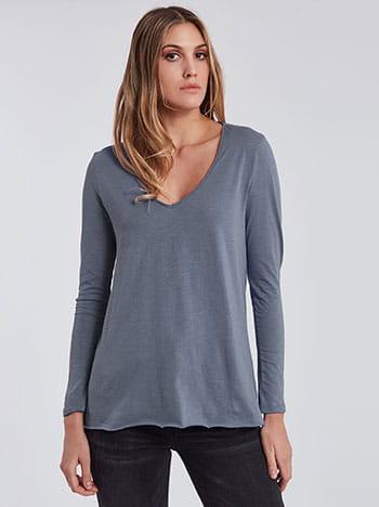 Μπλούζα με αφινίριστο τελείωμα SG4816.4001+7
