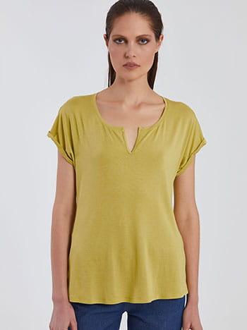Κοντομάνικη μπλούζα με άνοιγμα SG6188.4001+3