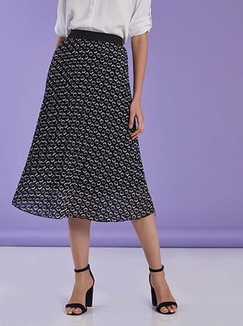 Πλισέ φούστα με σχέδιο SG7835.2805+1