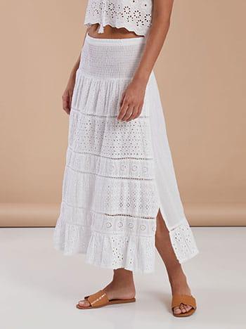 Midi βαμβακερή φούστα-φόρεμα με κέντημα SG9845.2707+1