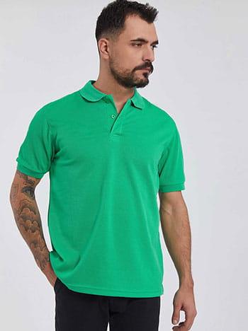 Ανδρική μπλούζα με γιακά SG9860.4122+5