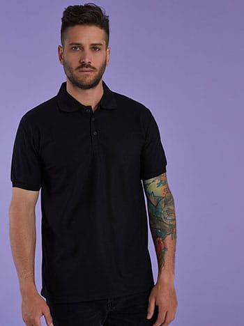 Ανδρική μπλούζα με γιακά SG9888.4534+4