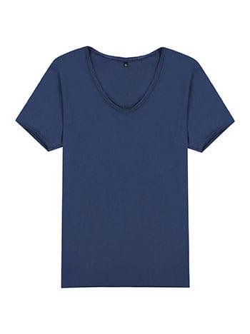 Βαμβακερό ανδρικό t-shirt με αφινίριστο τελείωμα SG9893.4101+3