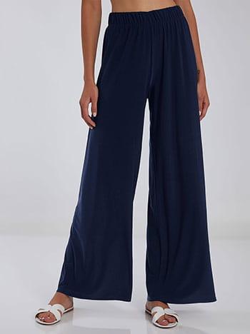 Ψηλόμεση παντελόνα, ελαστική μέση, ύφασμα με ελαστικότητα, celestino collection, σκουρο μπλε