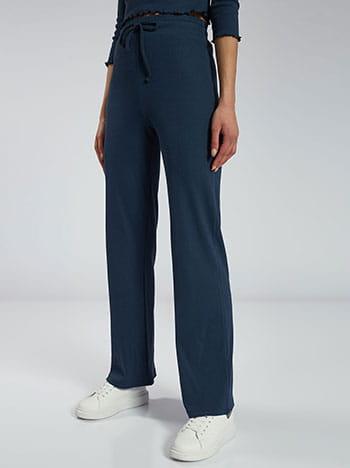 Ριπ παντελόνι φόρμας, ελαστική μέση, εσωτερικό κορδόνι, ύφασμα με ελαστικότητα, celestino collection, μπλε