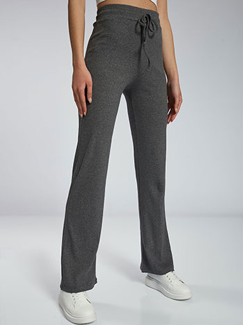 Ριπ παντελόνι φόρμας, ελαστική μέση, εσωτερικό κορδόνι, ύφασμα με ελαστικότητα, celestino collection, γκρι σκουρο