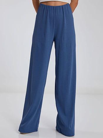 Ριπ παντελόνα, ελαστική μέση, χωρίς κούμπωμα, ύφασμα με ελαστικότητα, απαλή υφή, celestino collection, μπλε ραφ