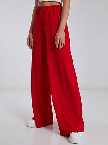 Ριπ παντελόνα, ελαστική μέση, χωρίς κούμπωμα, ύφασμα με ελαστικότητα, απαλή υφή, κοκκινο