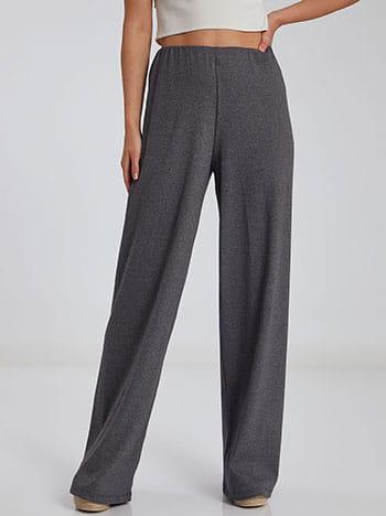 Ριπ παντελόνα, ελαστική μέση, χωρίς κούμπωμα, ύφασμα με ελαστικότητα, απαλή υφή, γκρι σκουρο