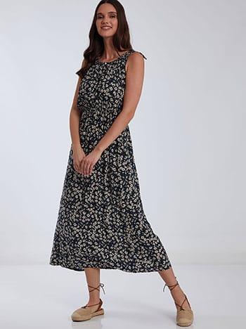Floral φόρεμα με δέσιμο στους ώμους SH1539.8074+3