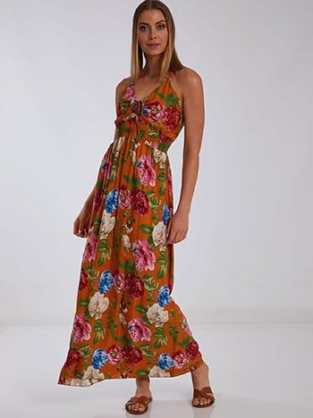 Φόρεμα με σούρα, ρυθμιζόμενες τιράντες, ελαστική μέση, χωρίς κούμπωμα, μιχ 2