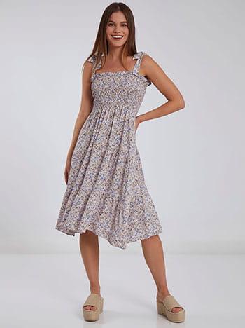 Midi φόρεμα με δέσιμο SH7959.8199+3