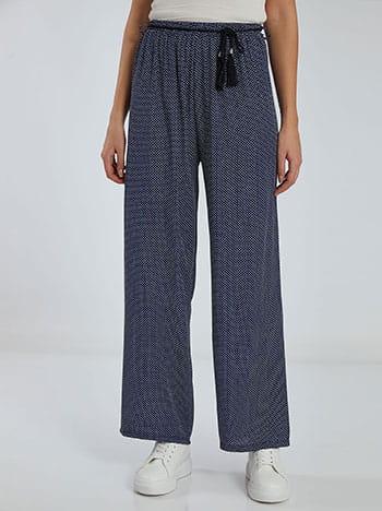 Πουά παντελόνα, αποσπώμενη ζώνη, ελαστική μέση, σκουρο μπλε