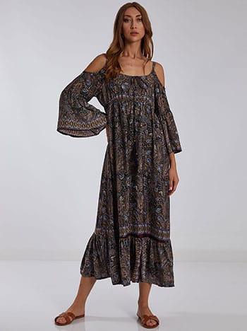 Εμπριμέ maxi φόρεμα SH9845.8122+1