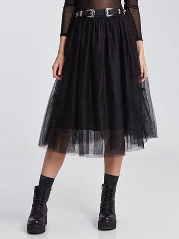 Midi φούστα με τούλι WE1728.2011+1
