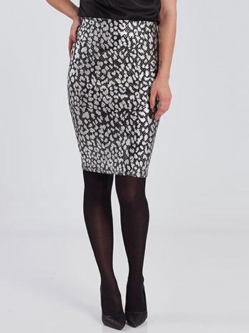 Λεοπάρ φούστα με παγιέτες WE2110.2001+3