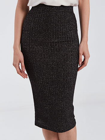 Πλεκτή μεταλλιζέ φούστα WE269.2070+2