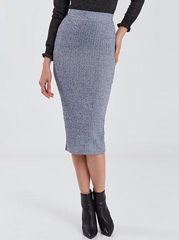 Πλεκτή μεταλλιζέ φούστα WE269.2070+1