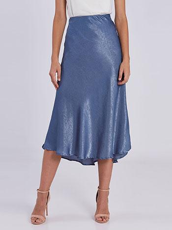 Midi φούστα με σατέν όψη WE453.2877+2