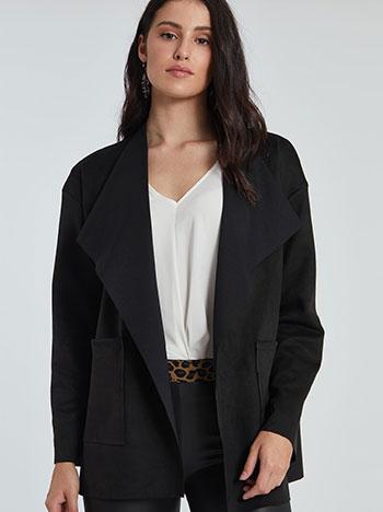 Παλτό με τσέπες τύπου suede WE7836.7317+1