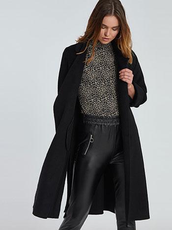 Μάλλινο μακρύ παλτό με τσέπες WE927.7951+1
