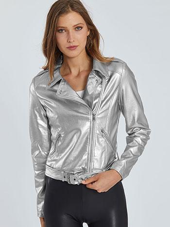 Μεταλλιζέ jacket δερματίνη WE9849.6139+1