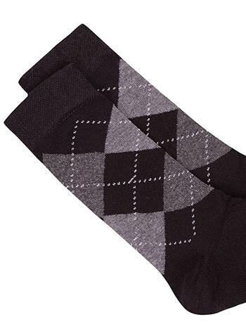 Ανδρικές κάλτσες με ρόμβους WE9868.A449+2