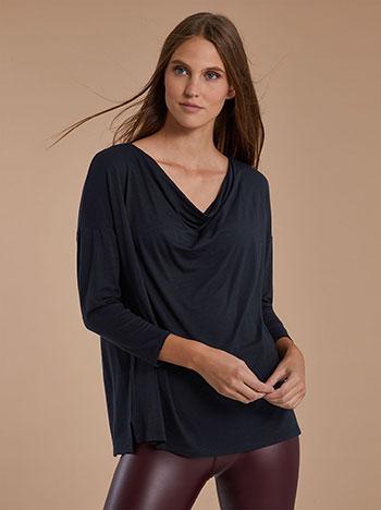 Μπλούζα ντραπέ με μανίκι 3/4 WH6140.4001+8 - Celestino -