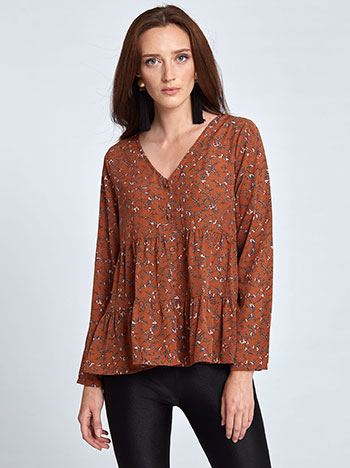 Floral πουκάμισο WL1238.3163+1 μπλουζεσ πουκαμισα