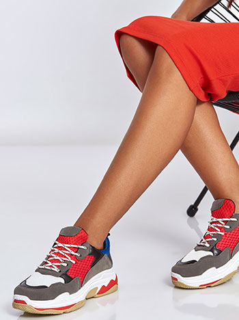 23e7cf81a35 Αθλητικά παπούτσια με συνδυασμό υλικών WL1449.A590+1 WL1449.A590+1.  celestino