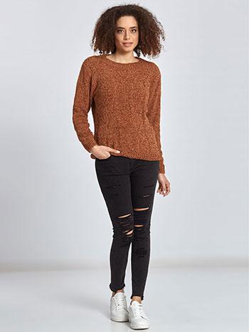 877c69214 Chenille sweater in burnt orange