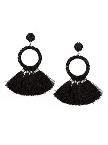 Κρεμαστά σκουλαρίκια με χάντρες και φούντες WL1588.A036+1 κοσμηματα σκουλαρικια