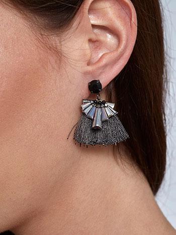 Κρεμαστά σκουλαρίκια με χάντρες και κρόσσια WL1588.A228+1 κοσμηματα σκουλαρικια