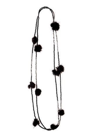 Κολιέ με χάντρες και πον πον WL1588.A250+1 κοσμηματα κολιε