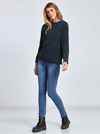 3142e8a36f10 Chenille πουλόβερ με κάθετη ραφή