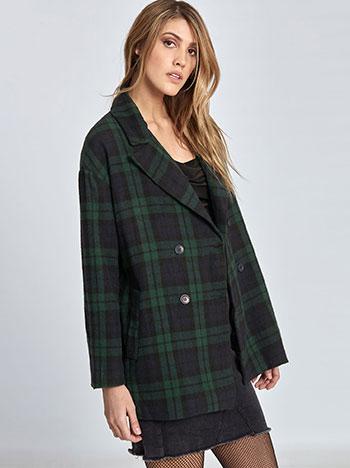 83f0d453e84e Oversized καρό παλτό WL1608.7532+1 WL1608.7532+1