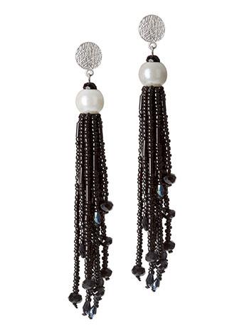 Κρεμαστά σκουλαρίκια με πέρλες και χάντρες WL1615.A061+1 κοσμηματα σκουλαρικια