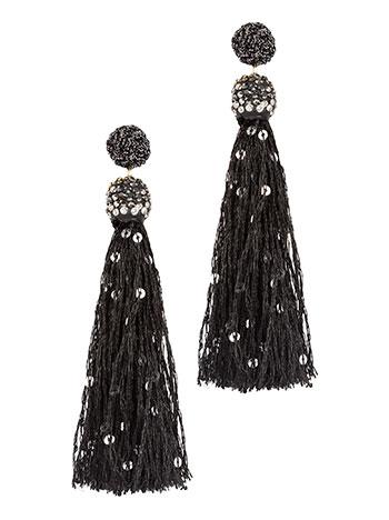 Κρεμαστά σκουλαρίκια με πούλιες και strass WL1652.A004+1 κοσμηματα σκουλαρικια