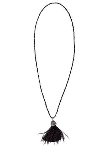 Μακρύ κολιέ με strass και φούντα WL1652.A638+1 κοσμηματα κολιε