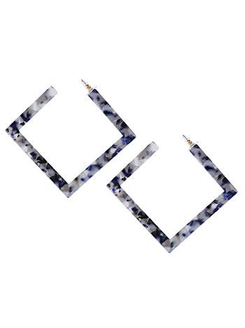 Τετράγωνα σκουλαρίκια ταρταρούγα WL1657.A016+3 κοσμηματα σκουλαρικια