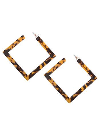 Τετράγωνα σκουλαρίκια ταρταρούγα WL1657.A016+1 κοσμηματα σκουλαρικια