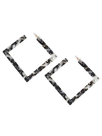 Τετράγωνα σκουλαρίκια ταρταρούγα WL1657.A016+2 κοσμηματα σκουλαρικια