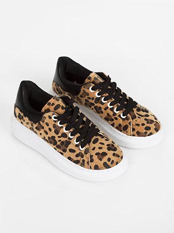 024e4387020 Platform sneakers in leopard print beige